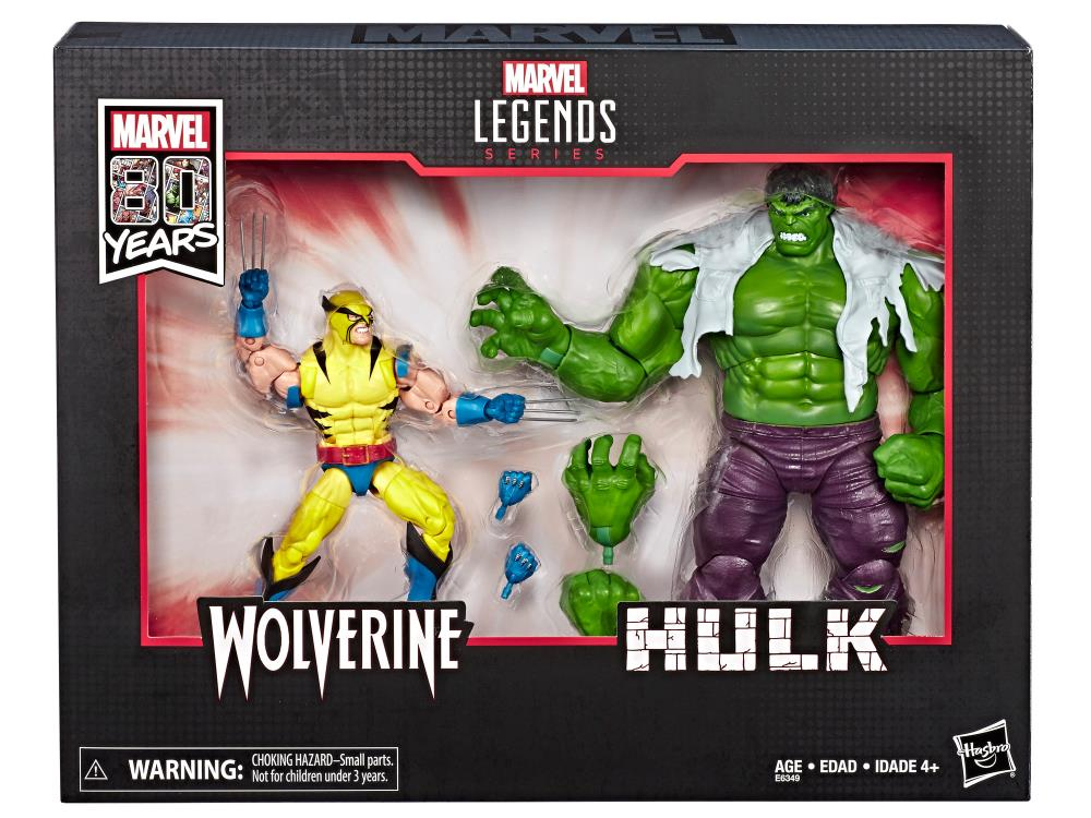 Marvel Legends 80th Anniversary Wolverine Vs Hulk 2 Pack Action Figures
