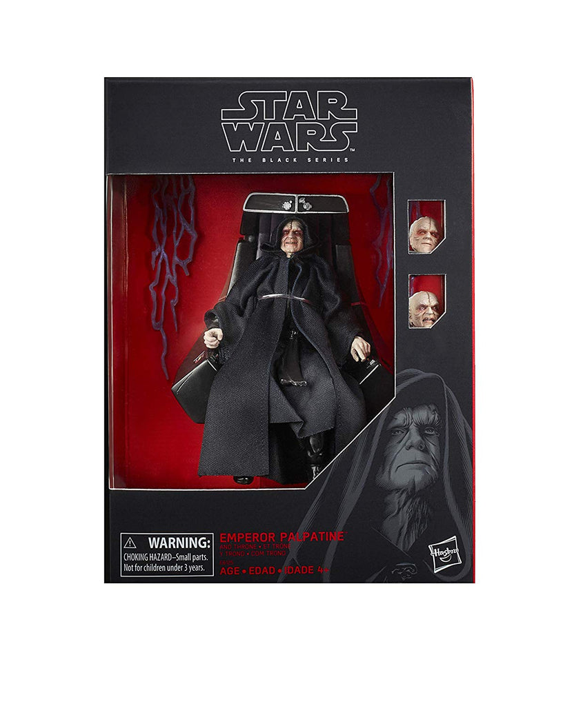 Hasbro Star Wars Black Series 6'' Emperor Palpatine With Throne Action Figure Exclusive