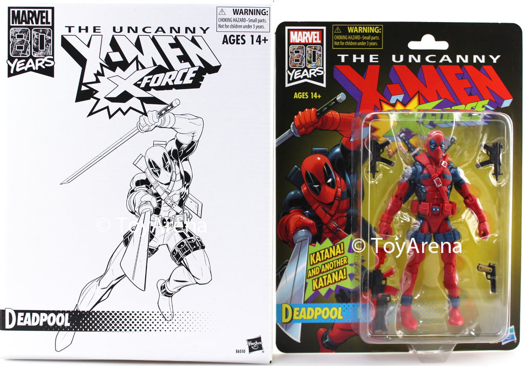Hasbro Marvel Legends The Uncanny X-Men X-Force Deadpool Marvel 80 Years Action Figure