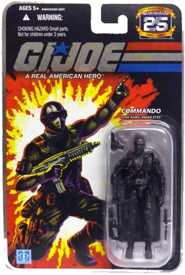 G.I. Joe 25th Anniversary Commando Code Name Snake Eyes Ver. 1 Action Figure 1