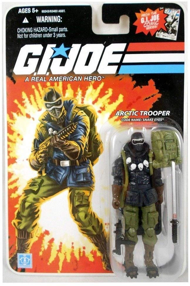G.I. Joe 25th Anniversary Arctic Trooper Code Name Arctic Snake Eyes Action Figure 1