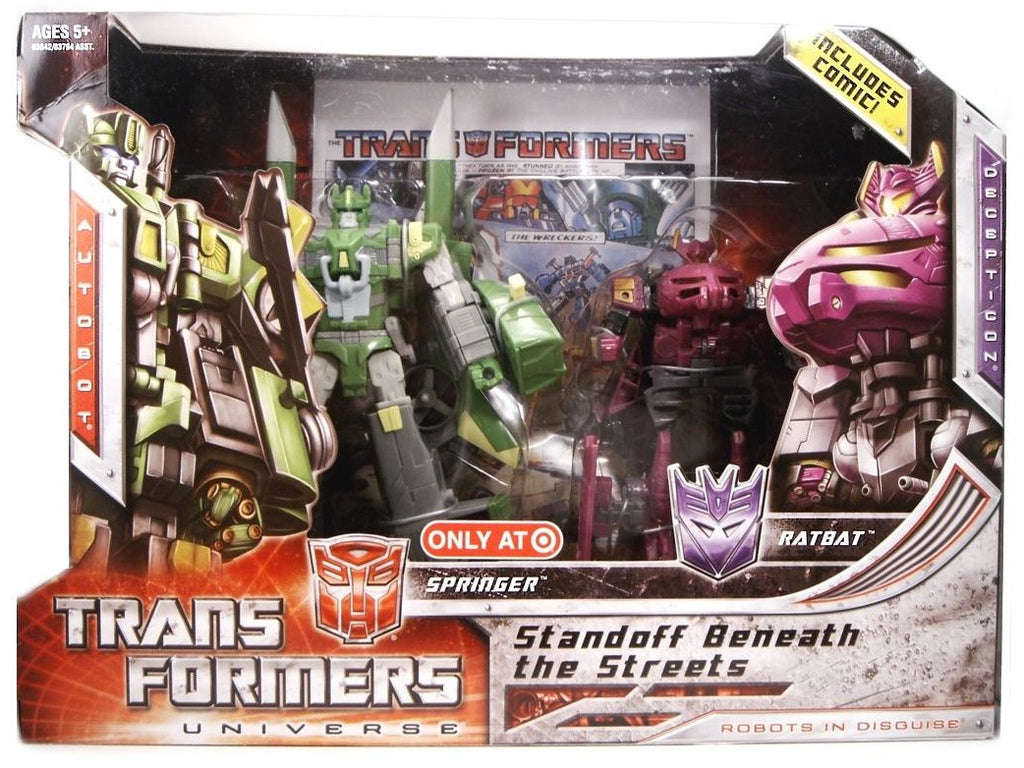 Transformers Universe Deluxe Class Springer & Ratbat 2 Pack Standoff Beneath The Streets Target Exclusive