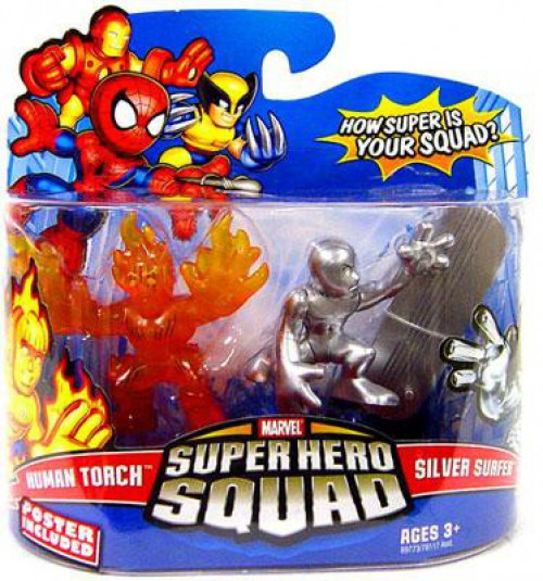 Marvel Superhero Squad Series 13 Human Torch and Silver Surfer 2 pack 1