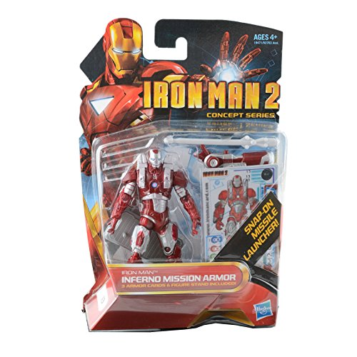 Iron Man 2 Inferno Mission Armor Movie Series Action Figure 1