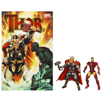 Marvel Universe Comics Greatest Battles Thor Vs Iron Man 3.75 inch Comic Book 2 Pack 2