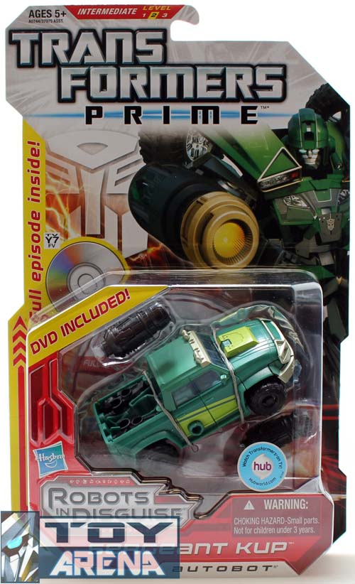 Transformers Prime RID Deluxe Class Sergeant Kup w/ DVD Included Action Figure