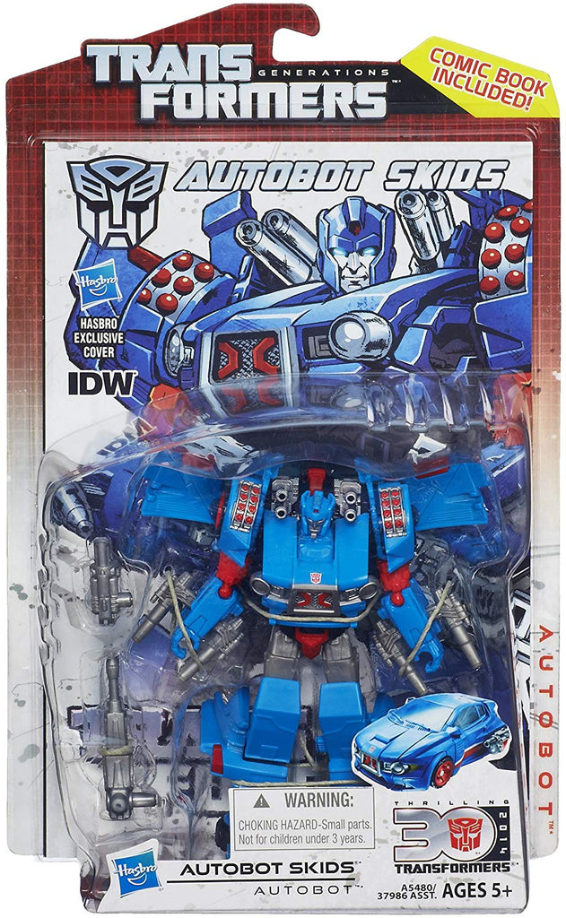Transformers Generations Thrilling 30 Deluxe Class Skids Action Figure 1