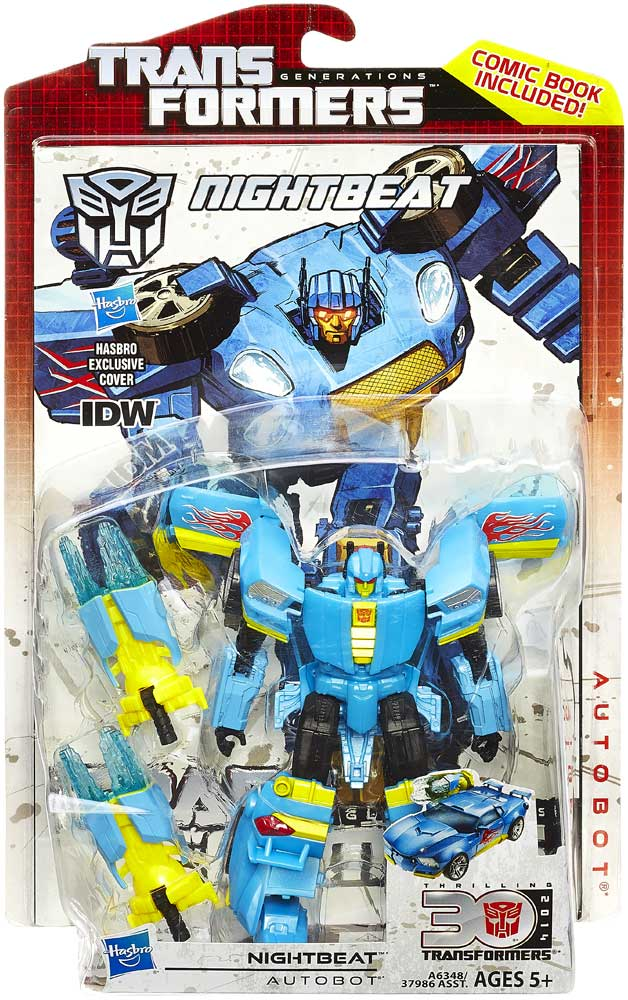 Transformers Generations Deluxe Class Nightbeat Thrilling Action Figure IDW