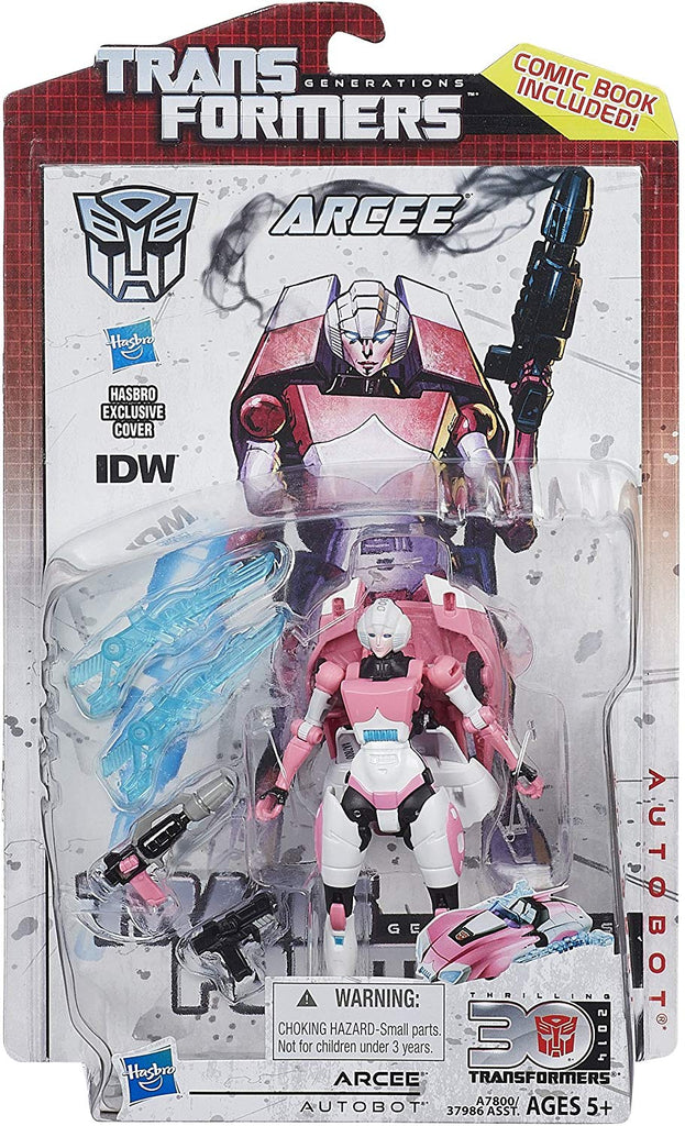 Transformers Generations Thrilling 30 Deluxe Class Arcee Action Figure 1