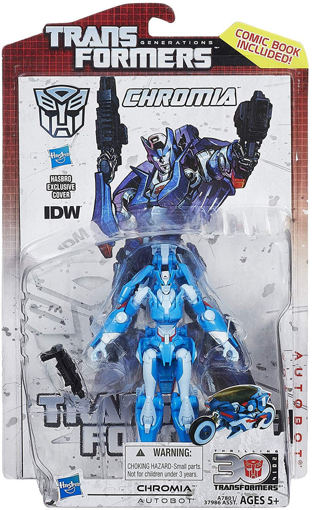 Transformers Generations Thrilling 30 Deluxe Class Chromia Action Figure 1