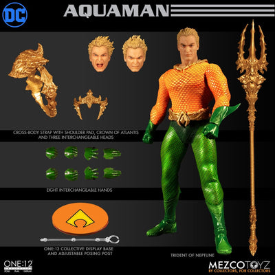 Mezco Toys One:12 Collective: Classic Aquaman Action Figure