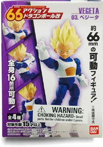 Bandai 66 Action Dash Dragon Ball Z Super Saiyan Vegeta Action Figure