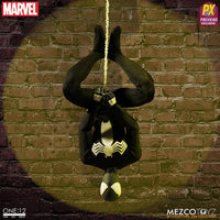 Mezco Toys One:12 Collective: Black Suit Spider-Man Spiderman Action Figure