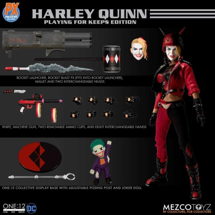 Mezco Toys One:12 Collective: DC PX Harley Quinn Playing for Keeps Edition Action Figure 1