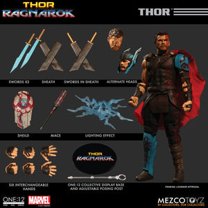Mezco Toys One:12 Collective: Thor Ragnarok (Gladiator Thor) Action Figure