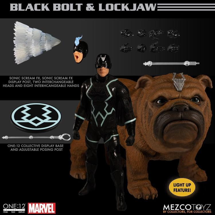 Mezco Toys One:12 Collective: Marvel Black Bolt and Lockjaw Action Figure 1