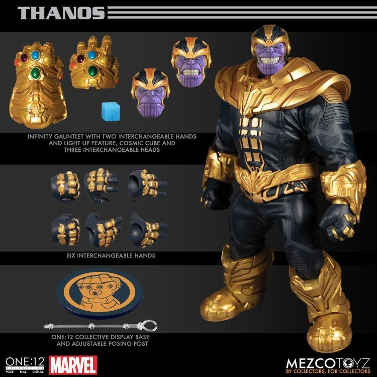 Mezco Toys One:12 Collective: Thanos (Comic) Action Figure 1