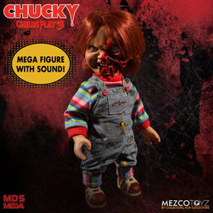 Mezco Toys Designer Series Child's Play 3 Talking Pizza Face Chucky Action Figure