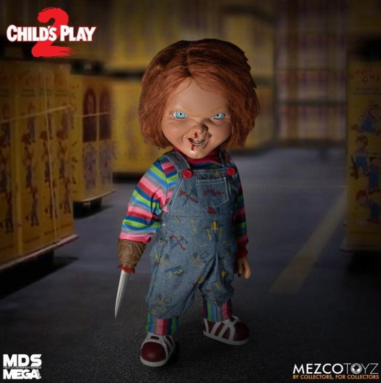 Mezco Toys Designer Series Child's Play 2 Mega Scale Talking Chucky Action Figure