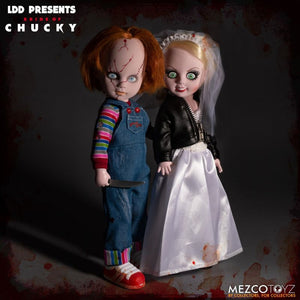 Mezco Toys Bride of Chucky Living Dead Dolls Chucky and Tiffany Box Set Action Figure