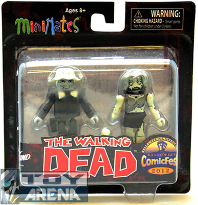 Minimates The Walking Dead Winter Coat Dale and Female Zombie Comic Fest 2012