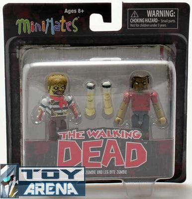 Minimates The Walking Dead Sailor Zombie and Leg Bite Zombie 2 Pack Action Figure