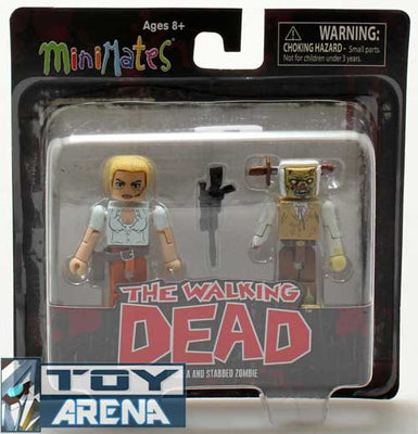 Minimates The Walking Dead Andrea and Stabbed Zombie 2 Pack Action Figure