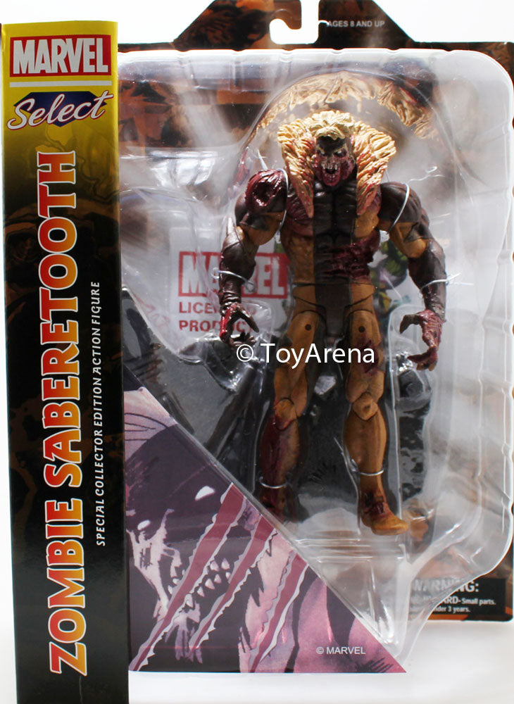 Marvel Select Zombie Sabertooth Action Figure