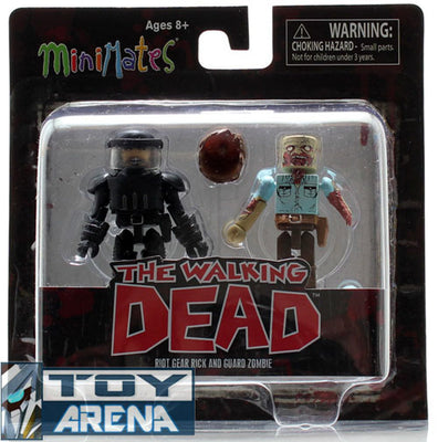 Minimates The Walking Dead Riot Gear Rick & Guard Zombie 2 Pack Series 3 Action Figure