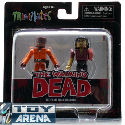 Minimates The Walking Dead Dexter & Dreadlock Zombie 2 Pack Series 3 Action Figure