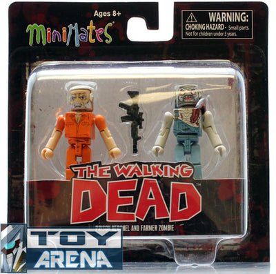 Minimates The Walking Dead Prison Hershel & Farmer Zombie 2 Pack Series 3 Action Figure