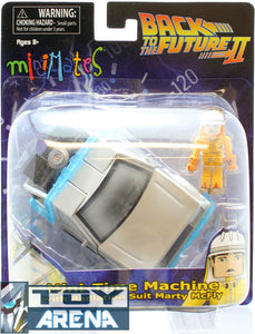 Minimates Vehicle Back to the Future II 2 Mini-Time Machine With Radiation Marty McFly