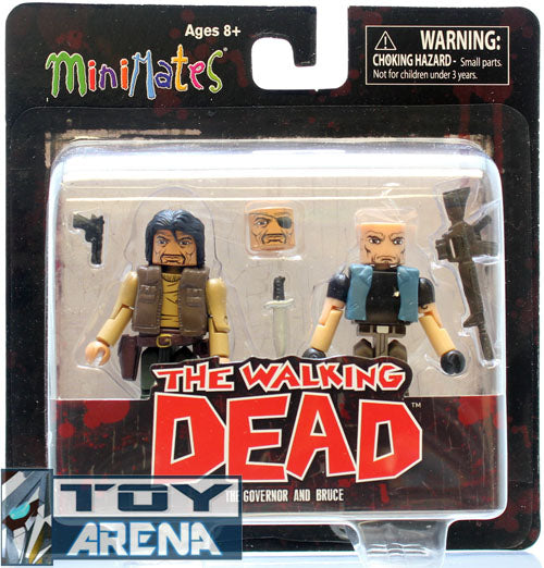 Walking Dead MiniMates Governor and Bruce 2 pack Series 4