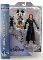 Diamond Kingdom Hearts Select Mickey, Axel, and Shadow Action Figure Set