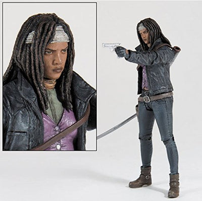 Skybound Exclusive The Walking Dead Michonne BOTH Full Color and Black/White Bloody Action Figure SDCC Exclusive