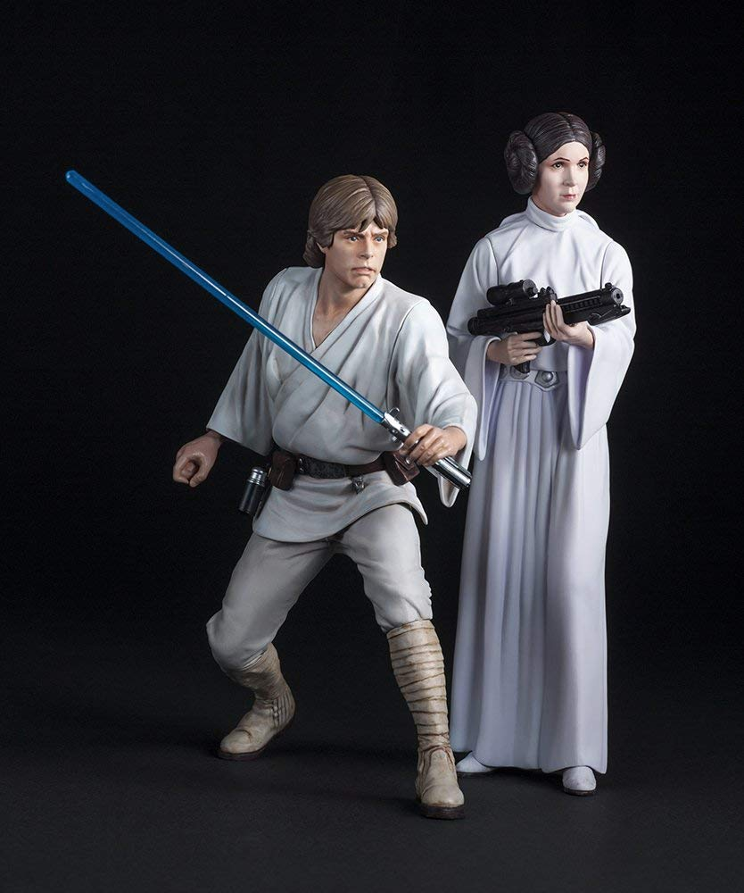 Kotobukiya Star Wars Luke Skywalker & Leia 2 Pack Artfx+ Statue 1