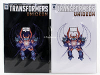 Transformers Unicron Issue 6 Retailer Exclusive Varient JPG Mcfly Cover A & B ( 2 COMICS )