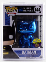 Funko Pop Blue Chrome Batman Toy Tokyo San Diego 2017 Exclusive with Hard Case