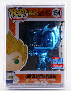 Funko Pop Blue Chrome Super Saiyan Vegeta NYCC 2018 Exclusive with Hard Case