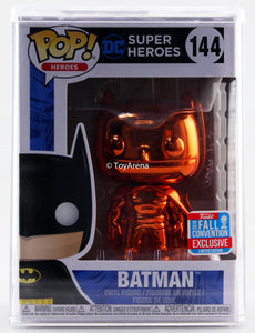 Funko Pop Orange Chrome Batman NYCC 2018 Exclusive with Hard Case