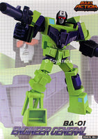 Before and After Transformers BA-01 Decepticon G1 Engineer General Devastator