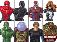 Marvel Legends Spiderman Wave 10 set of 7 BAF Molten Man Action Figures 1