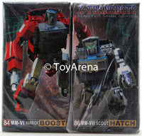 Xtransbots MM-VI Boost (Windcharger) and MM-VII Hatch (Tailgate) Set (Toy Colors) Action Figure