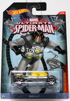 Hot Wheels Marvel Ultimate Spider-Man 2015 What-4-2 1/64 Rare Die-Cast