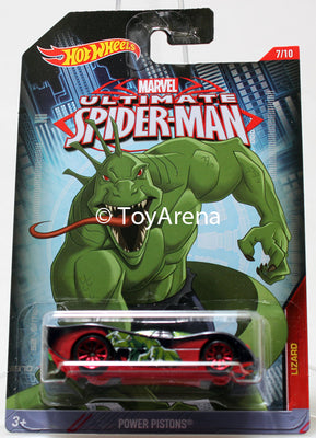 Hot Wheels Marvel Ultimate Spider-Man 2015 Power Pistons 1/64 Rare Die-Cast