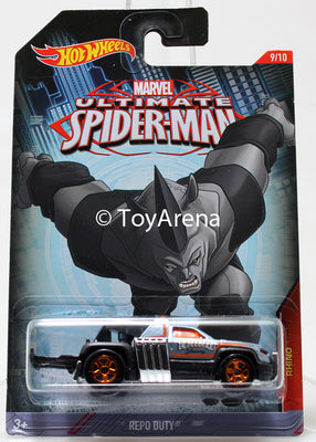 Hot Wheels Marvel Ultimate Spider-Man 2015 Repo Duty 1/64 Rare Die-Cast
