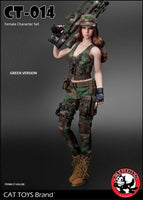 Cat Toys 1/6 CT-014B Military Female Character in Green Scale Figure