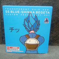 Demoniacal Fit Possessed Horse Transparent Hair SS God Shinka (Blue) For Vegeta