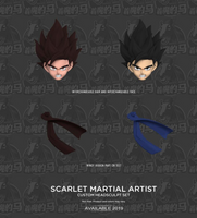 Demoniacal Fit Possessed Horse Scarlet Martial Artist Set Headsculpt Hair and Body (Kaio Ken Son Goku) Action Figure