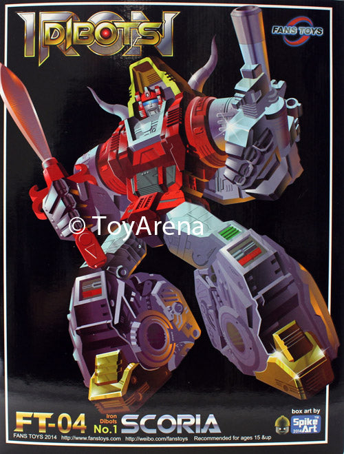 Fans Toys FT-04 Scoria Iron Dibots Action Figure w/ Grimlock Feet Upgrade Piece
